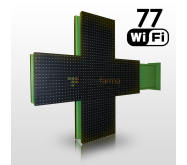 LED cross 77 excl. placement